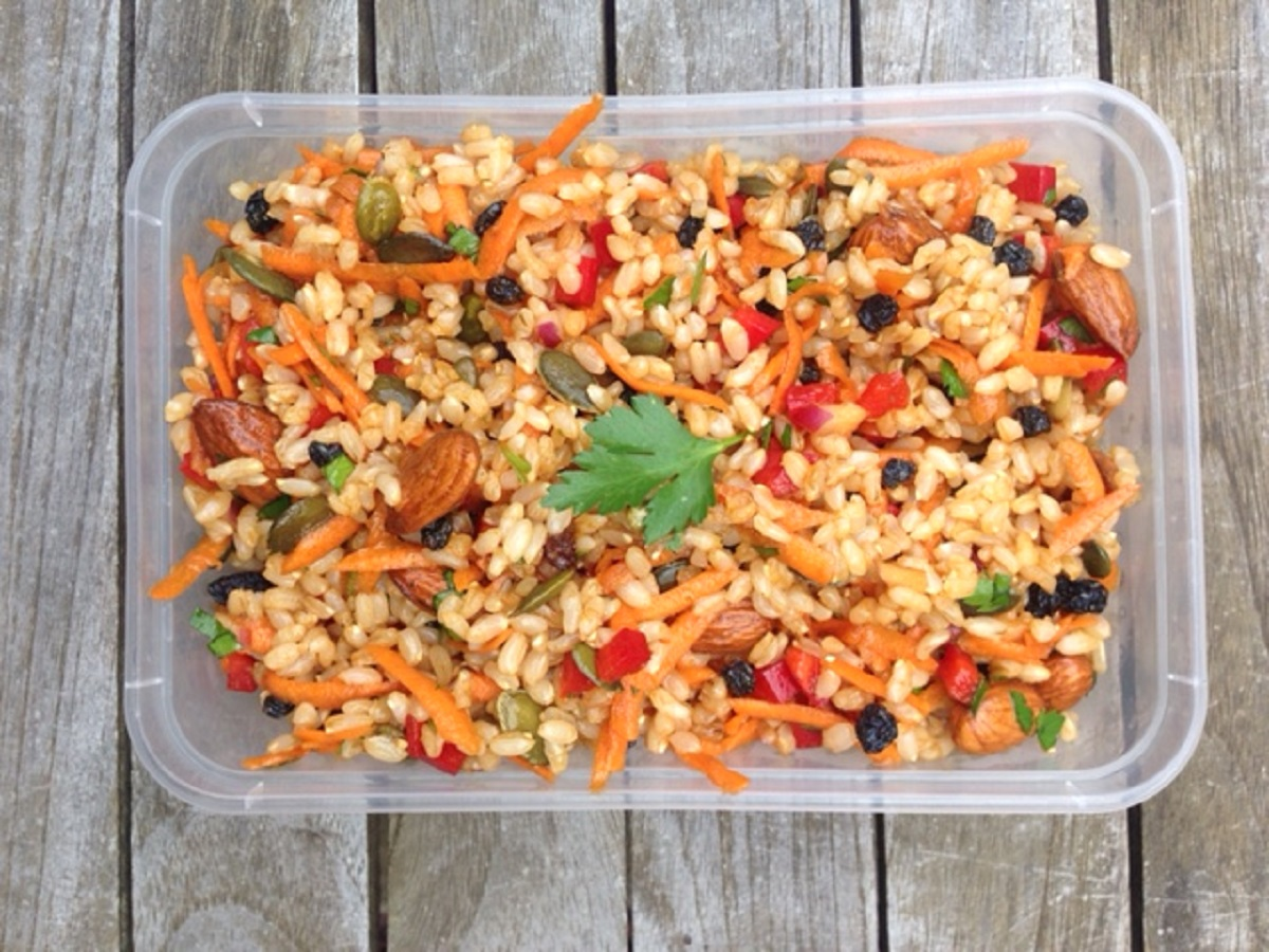 How to make a rice salad